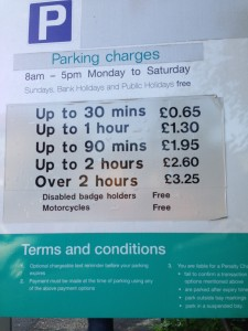 North Finchley Parking Charges