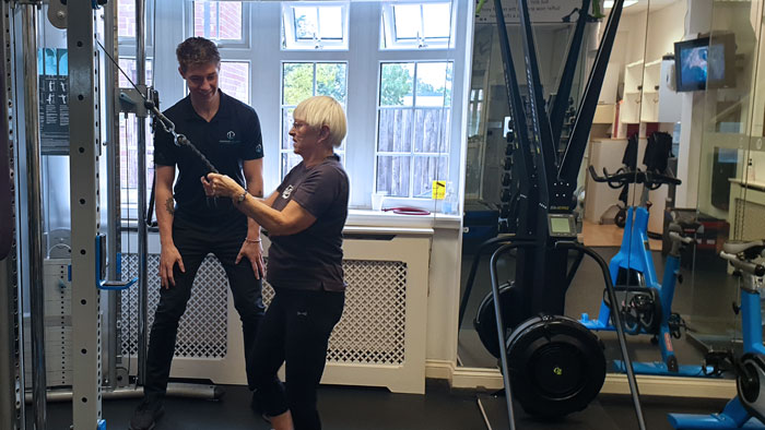 Elaine having personal training in North Finchley by Sean Miller
